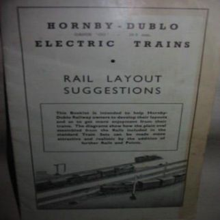Hornby Dublo Rail Layout Suggestions 1951